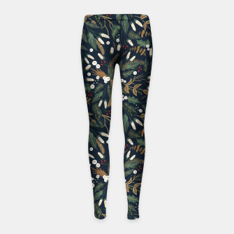 Winter night garden Leggings para niña thumbnail image