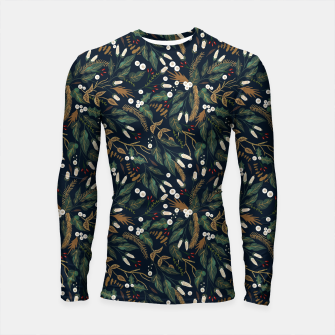 Winter night garden Longsleeve rashguard thumbnail image