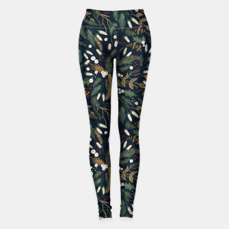 Winter night garden Leggings Bild der Miniatur