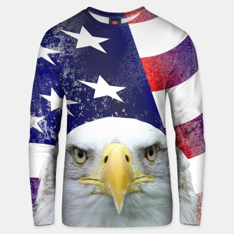 Miniatur American Flag and Bald Eagle Unisex sweater, Live Heroes