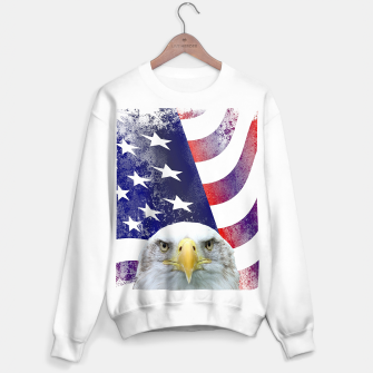 Miniatur American Flag and Bald Eagle Sweater regular, Live Heroes
