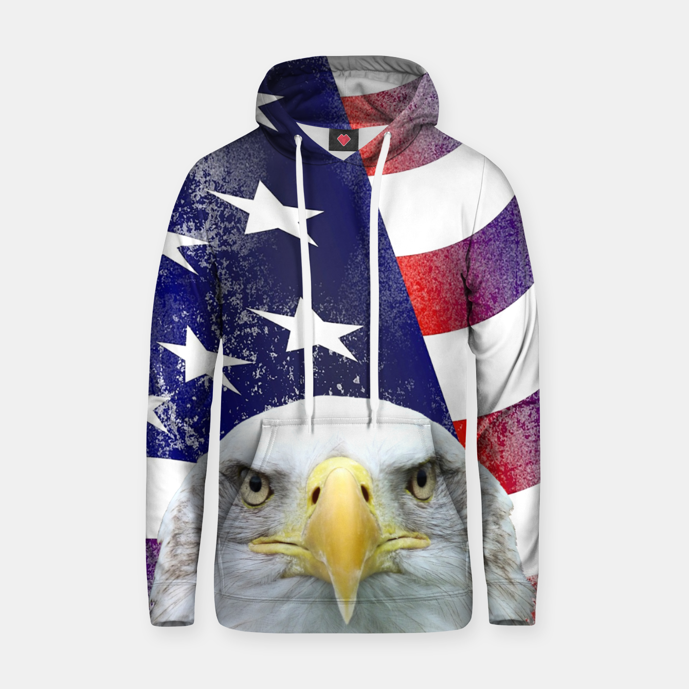 Image of American Flag and Bald Eagle Hoodie - Live Heroes