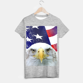Miniatur American Flag and Bald Eagle T-shirt regular, Live Heroes