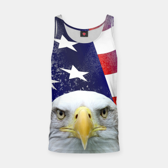 Miniatur American Flag and Bald Eagle Tank Top, Live Heroes