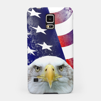 Miniatur American Flag and Bald Eagle Samsung Case, Live Heroes
