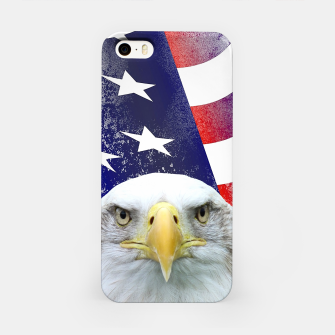 Miniatur American Flag and Bald Eagle iPhone Case, Live Heroes
