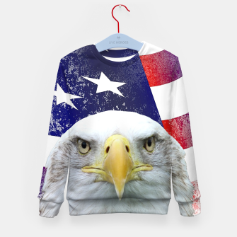 Miniatur American Flag and Bald Eagle Kid's sweater, Live Heroes