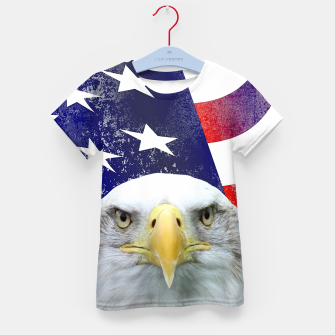 Miniatur American Flag and Bald Eagle Kid's t-shirt, Live Heroes