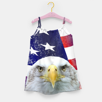 Miniatur American Flag and Bald Eagle Girl's dress, Live Heroes