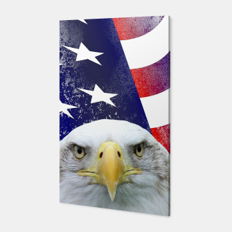 Miniatur American Flag and Bald Eagle Canvas, Live Heroes