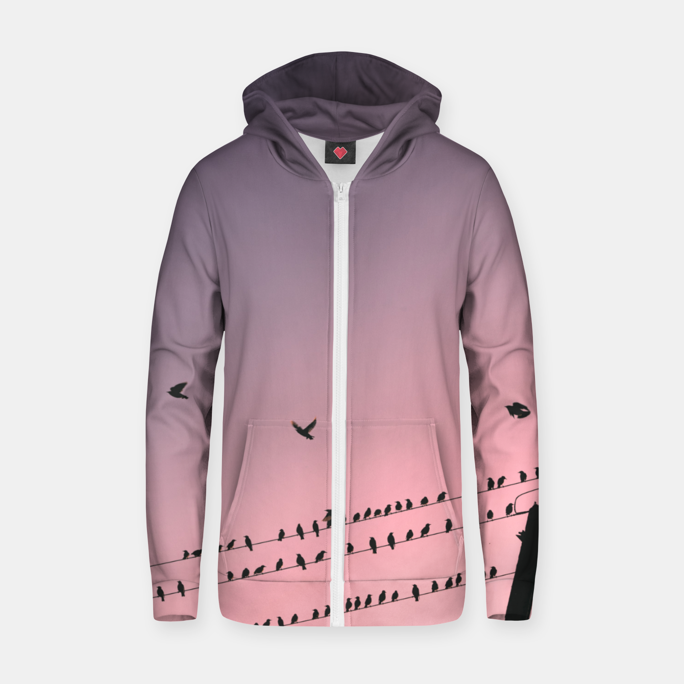 Image of Time to fly Zip up hoodie - Live Heroes