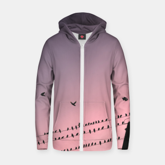 Time to fly Zip up hoodie Bild der Miniatur