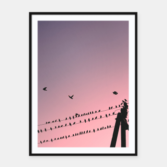 Thumbnail image of Time to fly Framed poster, Live Heroes