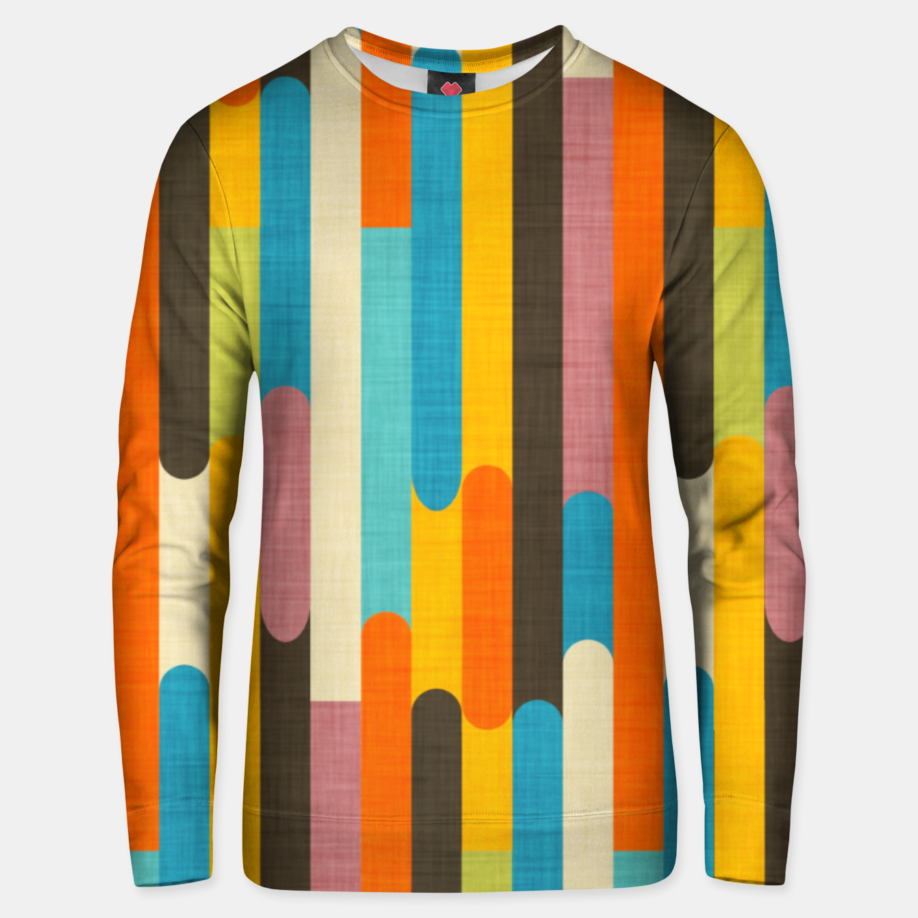 Image of Retro Color Block Popsicle Sticks Orange  Unisex sweater - Live Heroes