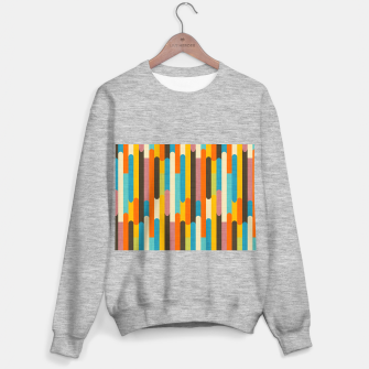 Retro Color Block Popsicle Sticks Orange  Sweater regular thumbnail image