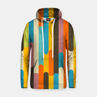 Retro Color Block Popsicle Sticks Orange  Hoodie thumbnail image