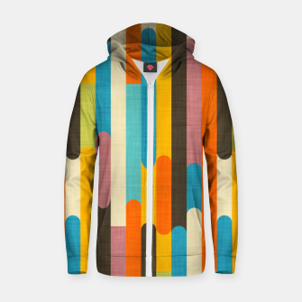 Retro Color Block Popsicle Sticks Orange  Zip up hoodie thumbnail image