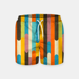Retro Color Block Popsicle Sticks Orange  Swim Shorts thumbnail image