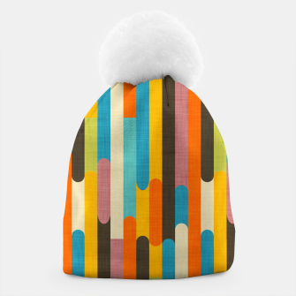 Retro Color Block Popsicle Sticks Orange  Beanie thumbnail image