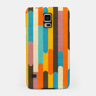 Retro Color Block Popsicle Sticks Orange  Samsung Case thumbnail image