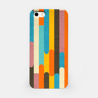 Retro Color Block Popsicle Sticks Orange  iPhone Case thumbnail image