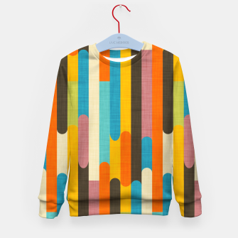 Retro Color Block Popsicle Sticks Orange  Kid's sweater thumbnail image