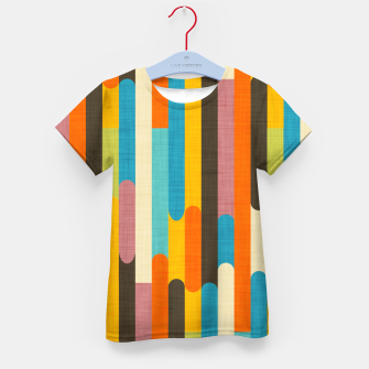 Retro Color Block Popsicle Sticks Orange  Kid's t-shirt thumbnail image