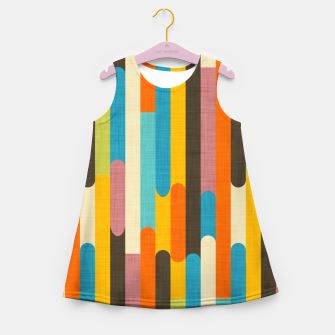 Retro Color Block Popsicle Sticks Orange  Girl's summer dress thumbnail image
