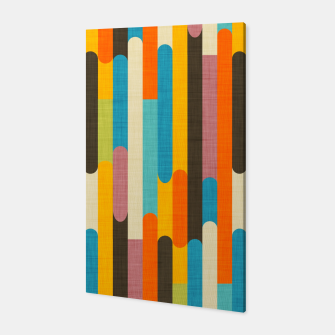 Retro Color Block Popsicle Sticks Orange  Canvas thumbnail image