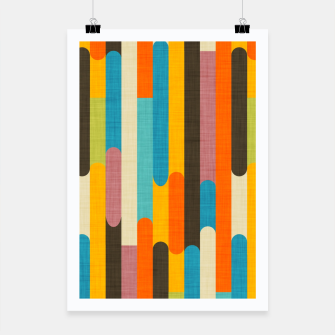 Retro Color Block Popsicle Sticks Orange  Poster thumbnail image