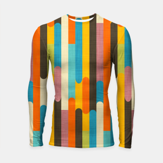 Retro Color Block Popsicle Sticks Orange  Longsleeve rashguard  thumbnail image