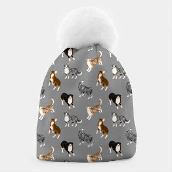Thumbnail image of Australian Shepherd Pattern (Grey Background) Beanie, Live Heroes
