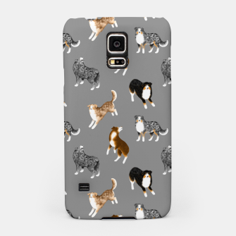 Thumbnail image of Australian Shepherd Pattern (Grey Background) Samsung Case, Live Heroes