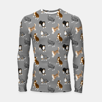 Thumbnail image of Australian Shepherd Pattern (Grey Background) Longsleeve rashguard , Live Heroes