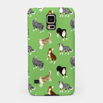 Thumbnail image of Australian Shepherd Pattern (Green Background) Samsung Case, Live Heroes