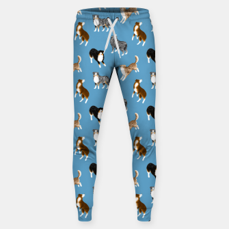 Australian Shepherd Pattern (Blue Background) Sweatpants thumbnail image