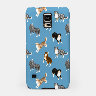 Thumbnail image of Australian Shepherd Pattern (Blue Background) Samsung Case, Live Heroes