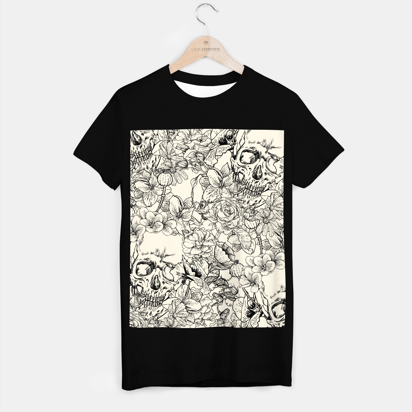 Image of SKULLS 5 T-shirt regular - Live Heroes