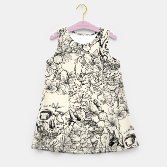 SKULLS 5 Girl's summer dress Bild der Miniatur