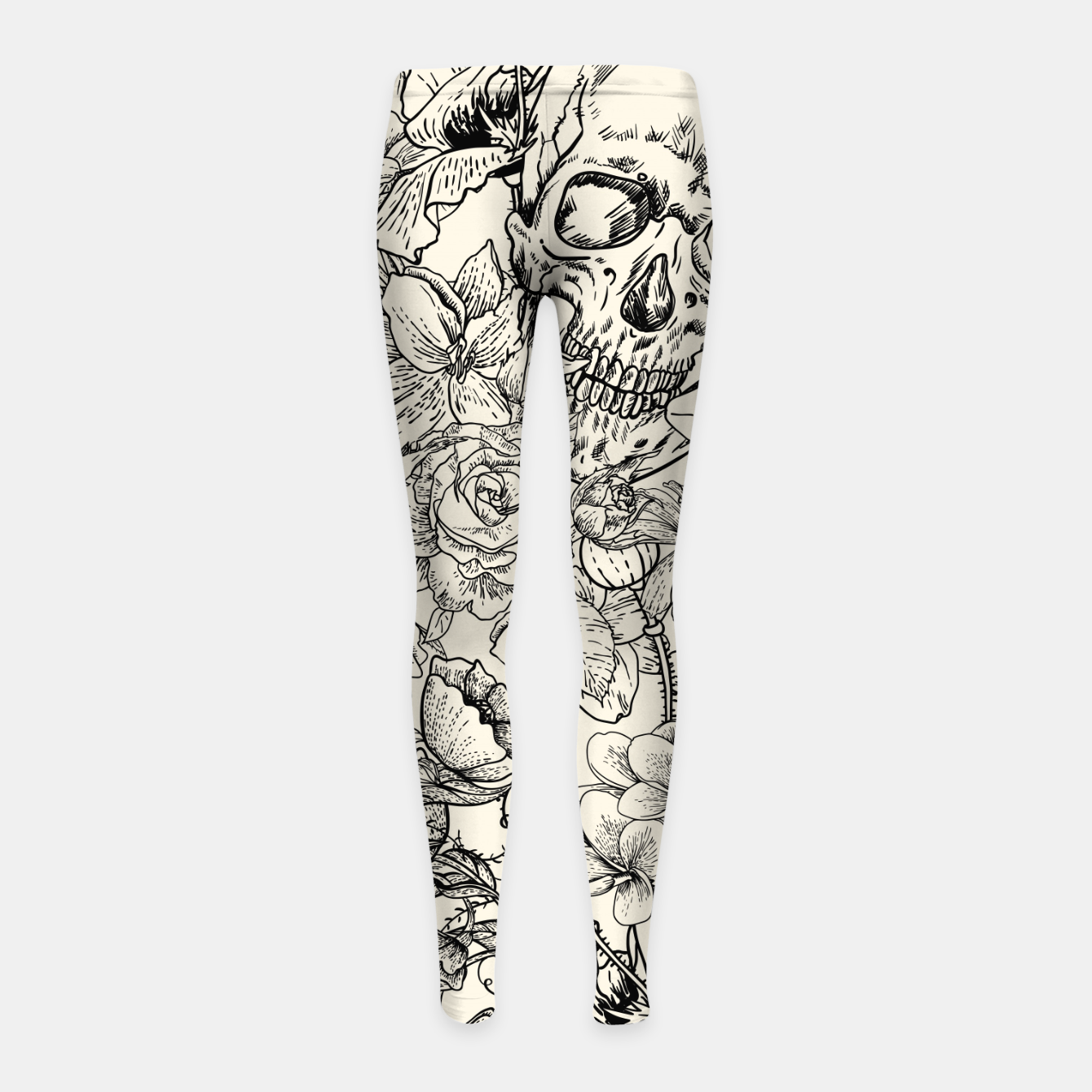 Image of SKULLS 5 Girl's leggings - Live Heroes
