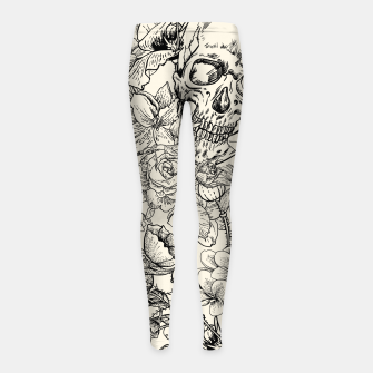 Thumbnail image of SKULLS 5 Girl's leggings, Live Heroes