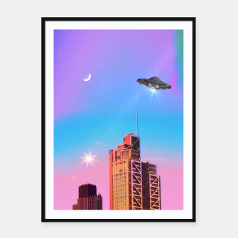Thumbnail image of Aliens Framed poster, Live Heroes
