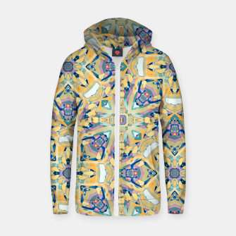 Miniature de image de Colorful Exotic Ornate Print Zip up hoodie, Live Heroes