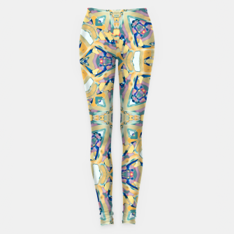 Miniature de image de Colorful Exotic Ornate Print Leggings, Live Heroes