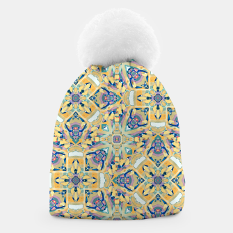 Miniature de image de Colorful Exotic Ornate Print Beanie, Live Heroes