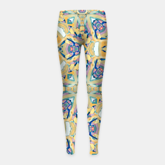 Thumbnail image of Colorful Exotic Ornate Print Girl's leggings, Live Heroes