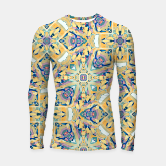 Thumbnail image of Colorful Exotic Ornate Print Longsleeve rashguard , Live Heroes
