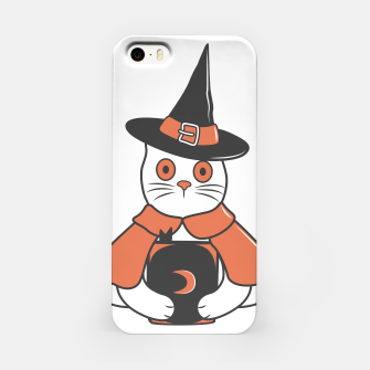 Thumbnail image of Cat Spell Master on Halloween iPhone Case, Live Heroes