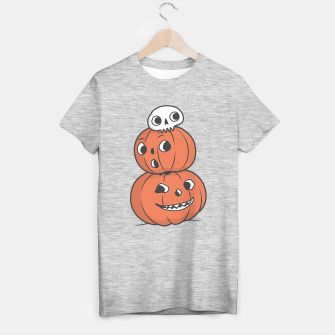 Thumbnail image of Halloween Pumpkin Pyramid T-shirt regular, Live Heroes