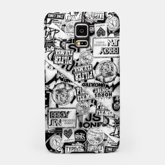 Miniaturka Black and White Urban Collage Print Samsung Case, Live Heroes